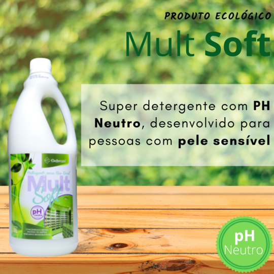 produto de limpeza Mult Soft 1l